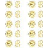 Small 14k Yellow Gold Earring Backs for Light Post Earrings 10 pieces