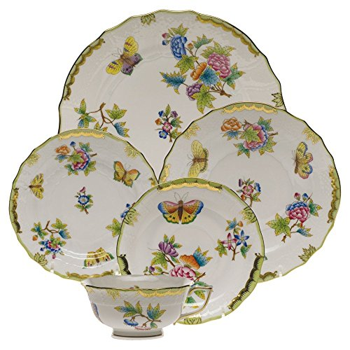 Herend Queen Victoria China Five Piece Place (Master 5 Piece Place Setting)