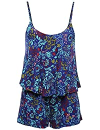 Awesome21 Women's Sleeveless Floral Print Knit Overlay...