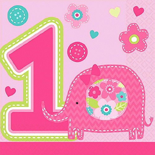 1st Birthday Girl Lunch Napkins - 7