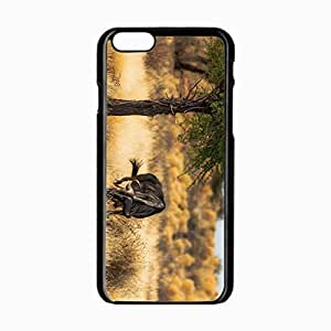 iPhone 6 Black Hardshell Case 4.7inch antelope africa Desin Images Protector Back Cover