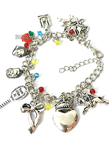 - Blingsoul Movie and TV Premium Costume Jewelry Collection (Snow White Charm Bracelet)