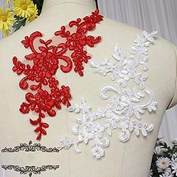 Stickerei Pailletten Floral Bestickt Applique Lace Ausschnitt Bekleidungszubehör