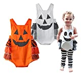 StylesILove Infant Toddler Baby Chic Halloween Pumpkin Sleeveless Costume Outfit Romper