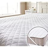 Story@Home Premium Water Resistant Hypoallergenic Cotton Mattress Protector - King Size, White