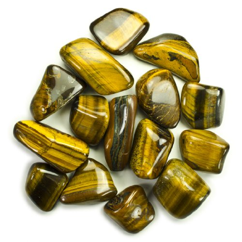 Hypnotic Gems Materials: 1/2 lb Bulk Tumbled Gold Tiger Eye Stones from Africa - Natural Polished Gemstone Supplies for Wicca, Reiki, and Energy Crystal HealingWholesale Lot