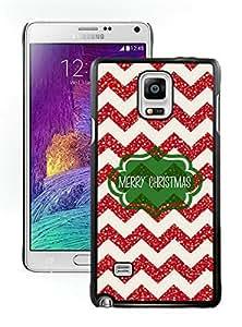 2014 New Style Chevron Merry Christmas Black Samsung Galaxy Note 4 Case 1 by icecream design