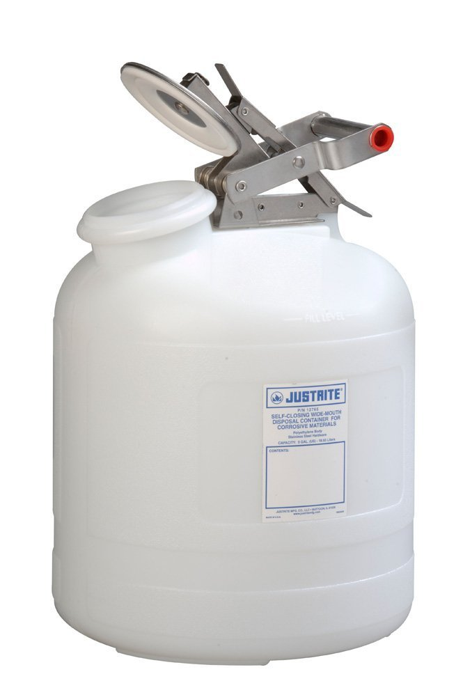 Justrite 12765 5 Gallon Capacity, 12.00'' O.D x 20'' H Size Laboratory Cans for Corrosives