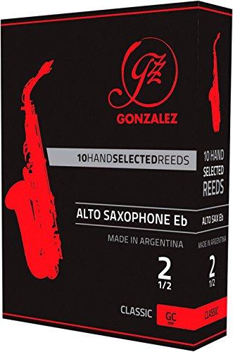 Caja de 10 cañas Gonzalez Saxofón Alto Clásica de la fuerza de 3,5