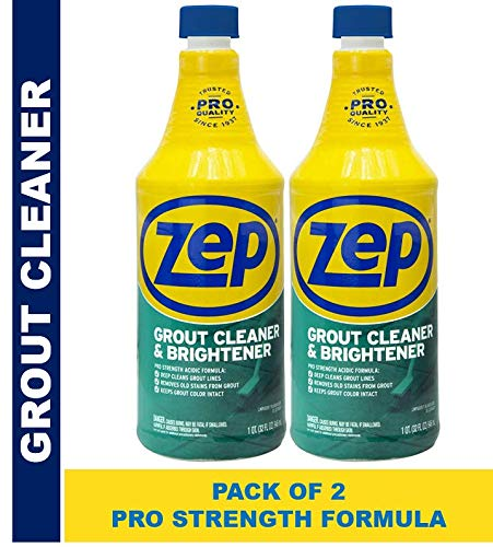 affordable Zep Grout Cleaner and Brightener 32 Ounce ZU104632 (Pack of 2) Deep Cleaning Pro Formula