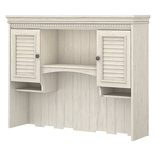 Bush Furniture Stanford Hutch for Computer Desk in Antique White by Bush Furniture