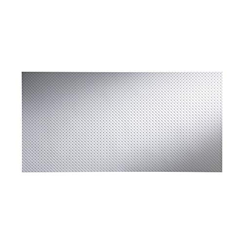 Fasade - Diamond Plate Matte White Decorative Wall Panel - Fast and Easy Installation (4' X 8' Panel) ()