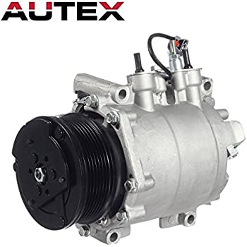 AC Compressor and A/C Clutch AUTEX CO 10663AC 38810PNB006 638951 7511495 20-11242 Compressor Replacement for 2002 2003 2004 2005 2006 Honda CR-V 2.4L