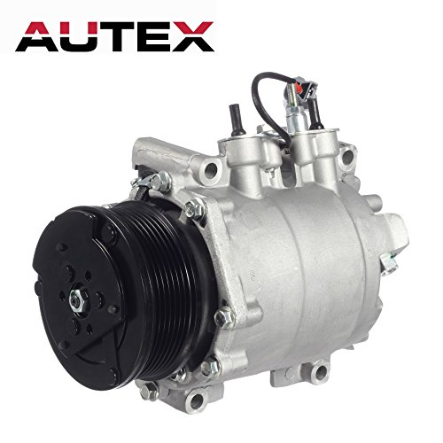 AC Compressor and A/C Clutch AUTEX CO 10663AC 38810PNB006 638951 7511495 20-11242 Compressor Replacement for Honda CR-V 2002 2003 2004 2005 2006 2.4L