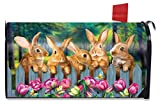 Briarwood Lane Garden Bunnies Spring Magnetic Mailbox Cover Tulips Easter Rabbit Standard