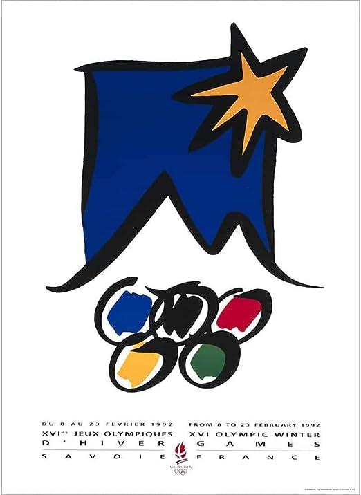 St Moritz Switzerland Olympic Winter Games 1928 Vintage Poster Print Retro Style