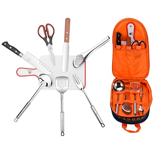 Camping Travel Cooking Utensils Set (8 Items)