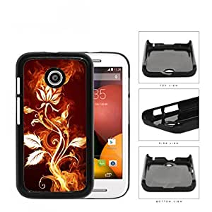 Flower Burning With Fire Flames And Smoke Hard Plastic Snap On Cell Phone Case Motorola Moto E