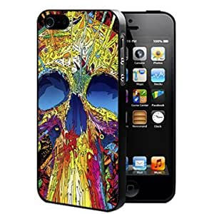Cool Colorful Psychedelic Skull Abstract Art (iPhone 5/5s) Hard Snap on Phone Case Cover