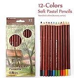 EP ENGROSS PENART 12 Professional Soft Pastel Pencils Wood Skin Tints (12 Colors Soft Pastel Pencils Landscape)