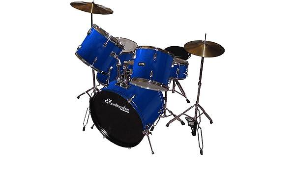 Santander Impacto juguete Juego completo + Soporte, platillos, taburete, color azul: Amazon.es: Instrumentos musicales