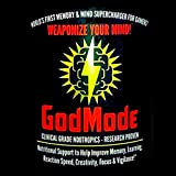 GodMode Neural Hacking Smart-Stack for Gamers & Achievers, 14 Natural Brain Boosting Nootropics Including Lion's Mane