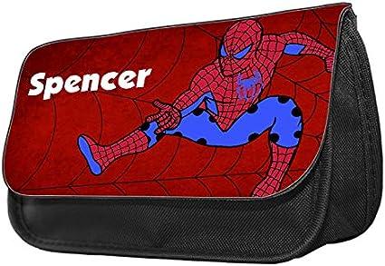 Estuche para lápices con diseño de Spiderman Estuche de maquillaje, regalo de vuelta al cole.: Amazon.es: Oficina y papelería