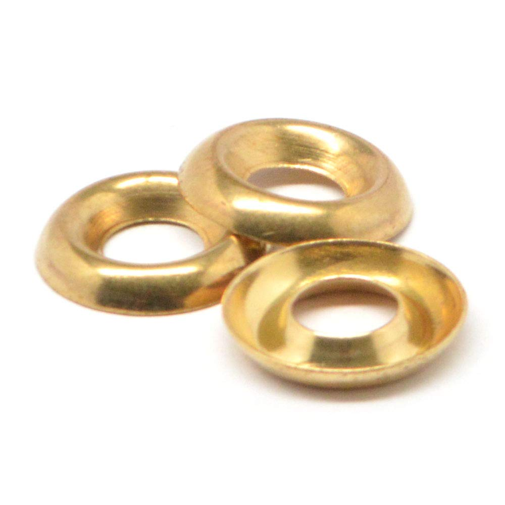 1/4 Cup Washer/Countersunk Finishing Washer Brass Pk 100