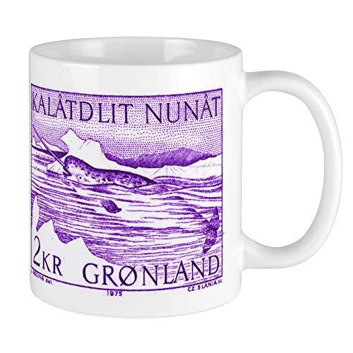 CafePress 1975 Greenland Narwhal Whale Postage Stamp Mug Unique Coffee Mug, Coffee Cup