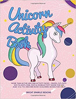 Unicorn Activity Book More Than 60 Fun Unicorn Activity Pages