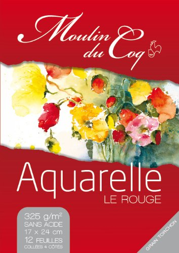 Hahnemuhle Le Rouge 24x32 - 12feuilles 325gr - Grana Fina