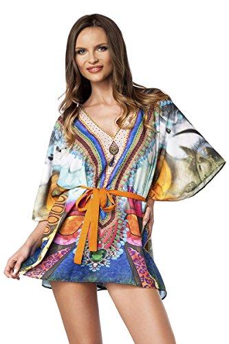 Angies Glamour Fashion - Camisas - para mujer Blau/Pink