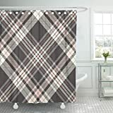 Pink and Cream Shower Curtains Emvency Shower Curtain Sets Waterproof 66