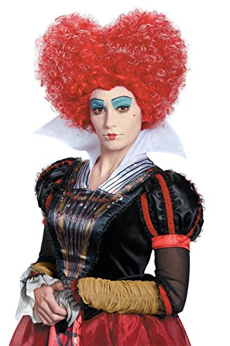 [DIS10219/181 Red Queen of Hearts Wig] (Red Queen Of Hearts Costumes Wig)