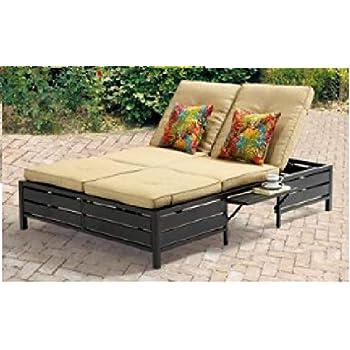 Amazon Com Mainstays Double Chaise Lounger Stripe