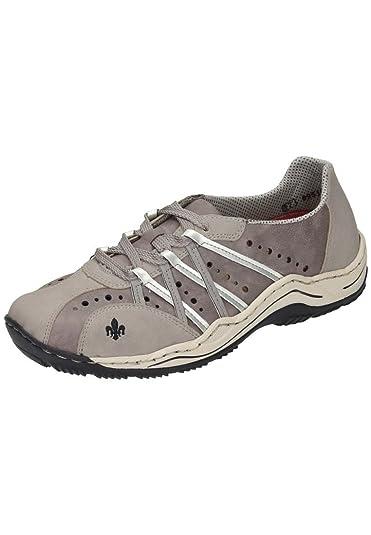 Rieker Damen Schnuerschuhe, Sneakers vapor/dust/staub/silver, 950553-9