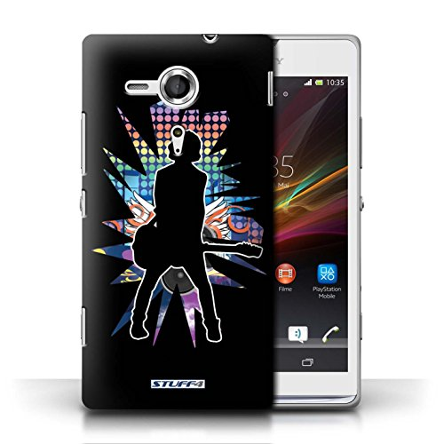 Etui / Coque pour Sony Xperia SP/C5303 / émotion Noir conception / Collection de Rock Star Pose