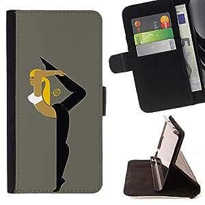 Momo Phone Case / Flip Funda de Cuero Case Cover - Ballet Deporte Gimnasia Yoga Mujer - Samsung Galaxy Core Prime