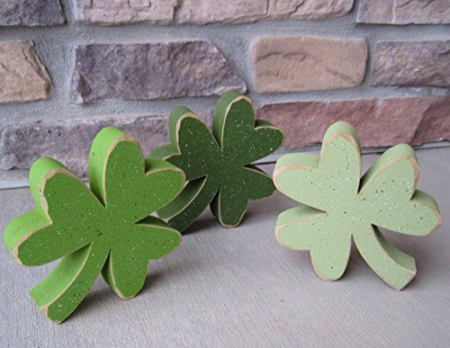 Free standing CLOVER or SHAMROCK SET of 3 for St. Patricks day and home decor