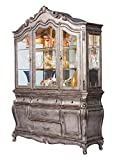 ACME Chantelle Antique Platinum Hutch Buffet
