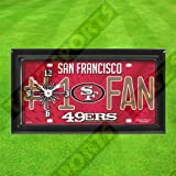 SAN FRANCISCO 49ERS WALL CLOCK - BY TAGZ SPORTS
