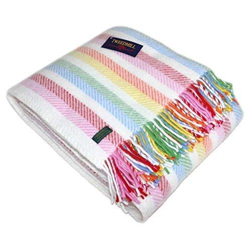 Tweedmill Throw Blanket - Pure New Wool - Rainbow -