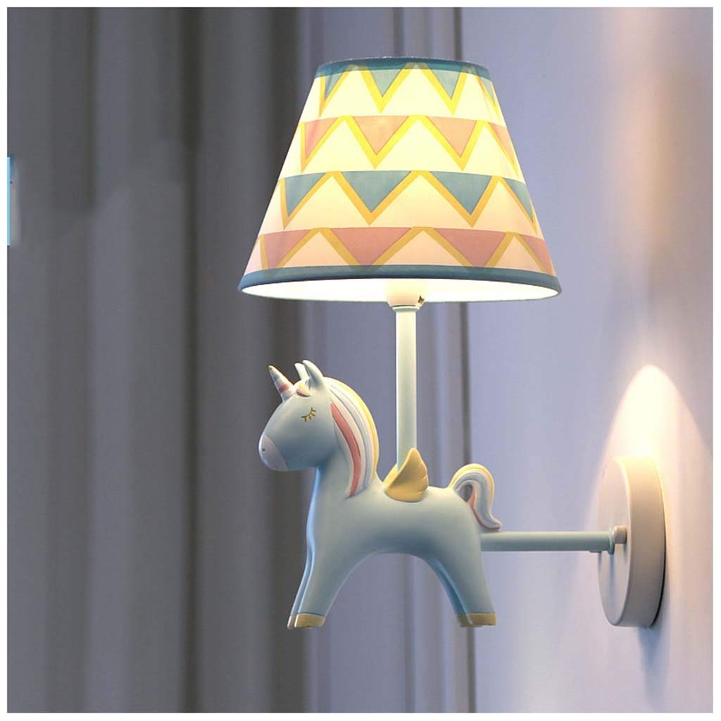 CJW Kinderzimmer Junge Wandlampe Einhorn LED Schlafzimmer Nachttischlampe Wohnzimmer Gang