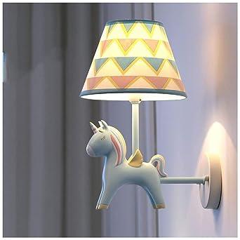 CJW Kinderzimmer Junge Wandlampe Einhorn LED Schlafzimmer ...