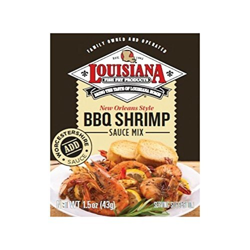 - Louisiana Fish Fry BBQ Shrimp Sauce Mix, 1.5 oz (3 Pack)