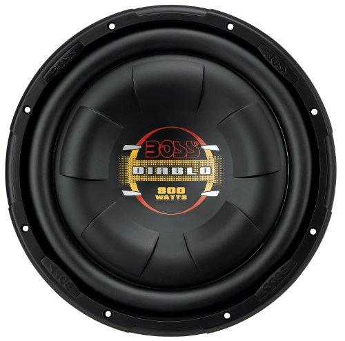 BOSS Audio D10F 800 Watt, 10 Inch, Single 4 Ohm Voice Coil, Shallow Mount Car Subwoofer