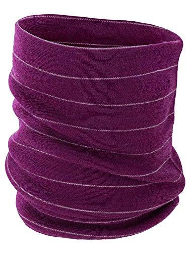 Neck Unisex Gaiter (Woolx Unisex Merino Wool Neck Gaiter For Men & Women- Warm and Soft- Mulberry Stripe)
