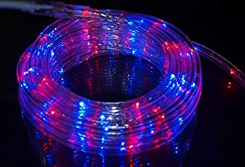 Amazon izzy creation 177ft bi color red and blue led izzy creation 177ft bi color red and blue led flexible rope light kit indoor mozeypictures Choice Image