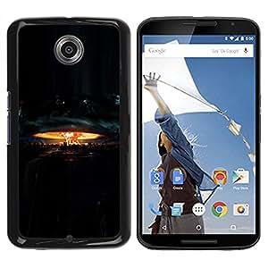 Paccase / SLIM PC / Aliminium Casa Carcasa Funda Case Cover para - Explosion Nuclear Destruction - Motorola NEXUS 6 / X / Moto X Pro