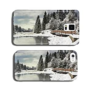 Panorama winter morning in the Carpathian Mountains cell phone cover case Samsung S6